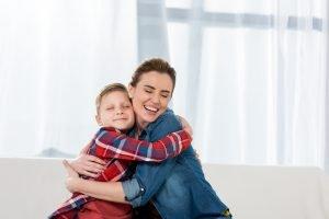 Hug after tantrum